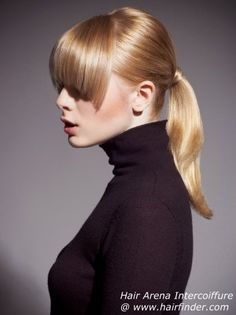 another classy ponytail