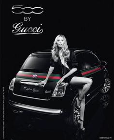 Natasha Poly For The Fiat 500 by Gucci 2012 Ad Campaign