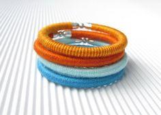 friendship bracelet, thread bracelet, thread wrapped bracelet, wrap bracelet, african jewelry, yarn bangle bracelet, fiber knit bracelet
