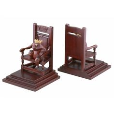 Frog Throne Bookends hee hee