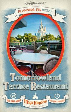 Walt Disney World Planning Pins: Tomorrowland Terrace Restaurant
