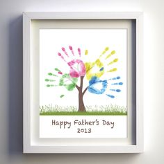 Fathers Day Gift  DIY Child's Handprint Tree by FancyPrintsforHome, $4.00