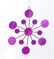 Tween Mirrored #Snowflake #Christmas #Ornament - retro love in orchid