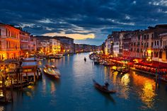Grand Canal at night_Venice