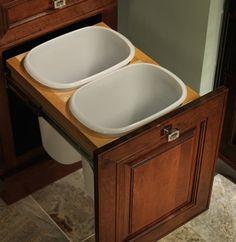 double wastebasket cabinet