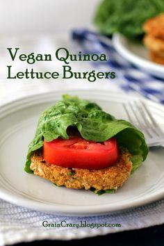 Grain Crazy: Vegan Quinoa Lettuce Burgers