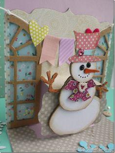 Blog Project by @Anna Draicchio *café creativo*  http://sizzixukblog.blogspot.co.uk/2014/01/happy-winter-birthday.html