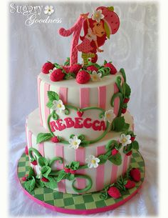 Strawberry Shortcake 1st Birthday Cake