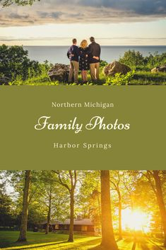 A Harbor Springs family portrait - Cinematic skies and lighting helped create the connection in this northern Michigan family portrait.