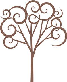 Silhouette Online Store: swirl tree