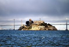 Alcatraz (looking east) with the Bay Bridge in the background...from our friends at #AlcatrazHistory