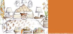 love the inspriational sketches (from WORLD MARKET designers)