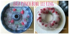 Easy Punch Bowl Ice Ring - The Peaceful Mom punch bowls, bowl ice, parti fun, bon appétit, parti idea, parti time