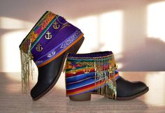 ETHNIC HIPPIE BOHO boots Tribal Gypsy Women by MISIGABRIELLA, €80.00