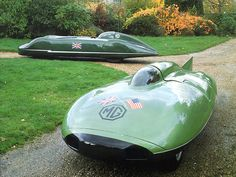 MG, Speed Record cars, British Racing Green