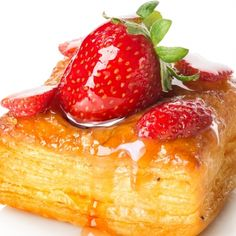 An easy puff pastry treat made with premade puff pastry sheets.. Simple Puff Pastries with Fresh Fruit  Recipe from Grandmothers Kitchen.
