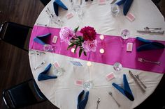 Navy Blue And Fuschia Wedding | wedding winter wedding bouquet wed: Our colors were navy and fuschia ...