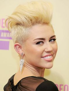 Just because it's prom doesn't mean you have to go the traditional route with your hair and makeup. Miley said she feels more amazing now—with her short faux-hawk hairstyle—than she did with super-long hair.