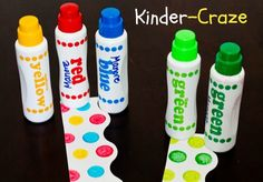 use dot painters to created fun polka dot designs for classroom bulletin board borders