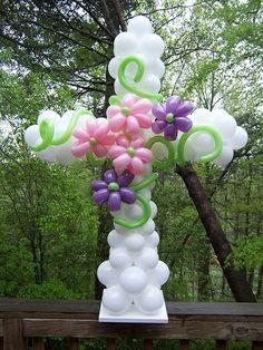 decoración primera comunión globos vejigas baloons helio helium decor flowers cross