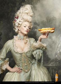 """""""MARIE ANTOINETTE"""" Print Ad for Damm by Caldas Nay"""