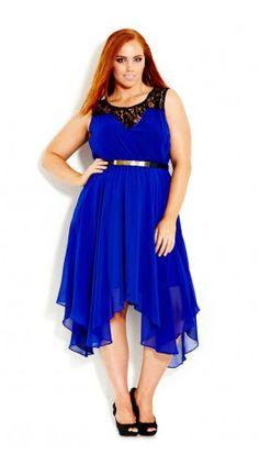 Plus Size Layer Keyhole Dress - City Chic