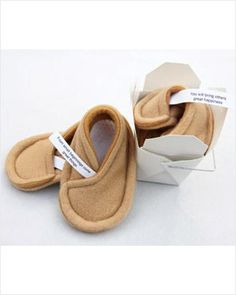 fortune cookie slippers!