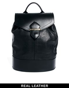 ASOS Leather Luxe Backpack