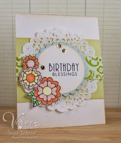 Card by Anya Schrier using On Occasion from Verve.  #vervestamps