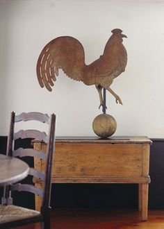 rooster weathervane...plus the little trunk