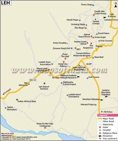 City Map of Leh