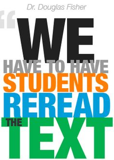 Importance of re-reading and close reading in the CCSS. From www.mhecommoncoretoolbox.com