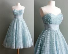 In love with this powder blue peggy sue party dress.