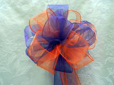 Orange/Tangerine and Regency Purple Wedding/ by creativelycarole, $90.00