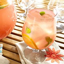 Cool off with this fruity, tropical punch! Naturally hydrating GOYA® Coconut Water mixes with sweet, pink guava nectar, fresh oranges and refreshing mint. Add some fizz with sparkling soda to make this drink perfect for any party!
