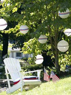 Patriotic Lanterns