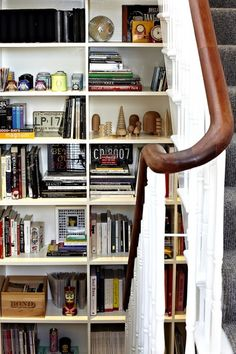 Design*Sponge - bookshelves on landings