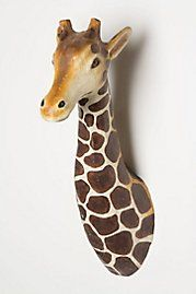wall decor, giraff bust, lanki giraff, anthropologie, kid rooms, boy rooms, nurseri, babies rooms, giraffes