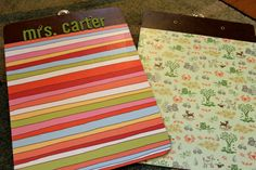 use modge podge with scrapbooking paper