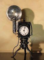 Steampunk clocks, from Van Dusen Clockworks.