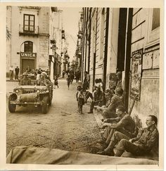 Allied Soldiers Rest, Cefalu, Sicily. 1943.