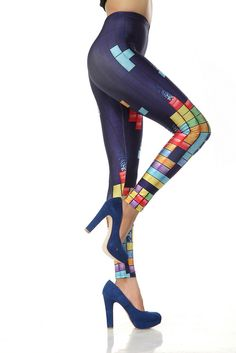 Color Block Leggings by Rose Gal #Tetris