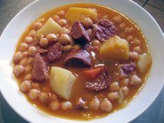 Cuban in the Midwest: Potaje de Garbanzos • Chickpea Stew - Substitute with veggie sausage/chorizo aka soyrizo