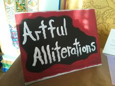 Artful Alliterations is a read-and-respond literacy program in the Art Discovery Center for 2014.