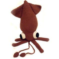 Crochet PATTERN: Squid -pdf-