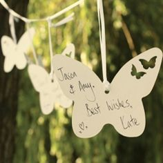 Ivory Wedding Butterfly Guest Wishes, a beautiful alternative to a guest book