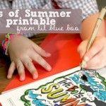 Boys of Summer Art   A FREE Printable