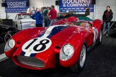 1957 Ferrari Testa Rossa 250 Race Car - it set the world record for auction price at $14.9 million in 2011 during the Pebble Beach Concours d'Elegance car show