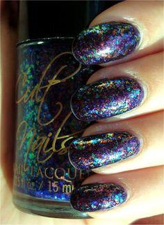 gorgeous glitter nails