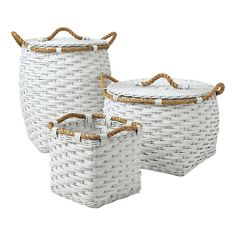 Rope Bin Collection: Available also in orange and cobalt #Baskets